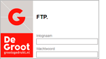 Upload uw bestanden via de FTP server